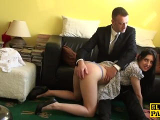 XXX porn - estel-two: English sub cockriding after getting spanked