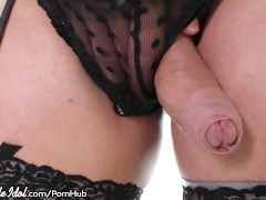 ShemaleIdol Curvy TS Barebacks with Guy