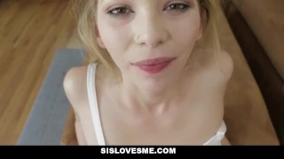 SisLovesMe - Annoying Sis Wants My Attention  step-siblings step-brother point-of-view blonde cumshot pov skinny small-frame angel-small petite step-sister step-sis sislovesme facialize bigcock facial