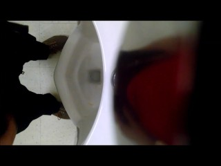 Urinal Spy - Young White Guy with big nice uncut dick # 1