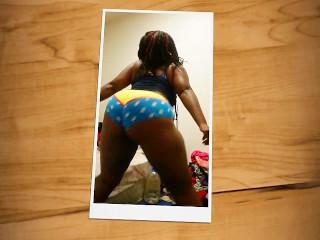 Sexy ebony Bbw jiggling big booty