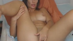 Sexy Slutty Babe Having a Masturbation Show