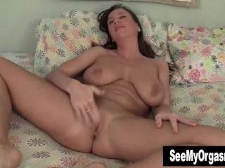 Busty Cherry Masturbating In The Bedroom