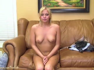 Teen amateur spreads her pussy casting at BrandNewAmateurs