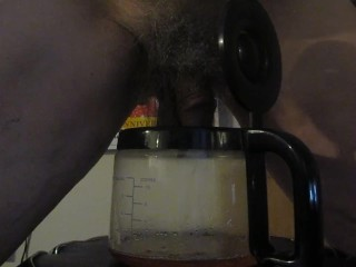 Peeing in a Coffee Carafe!