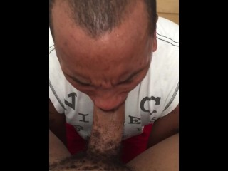 Sucking a VERY FAT DICK....