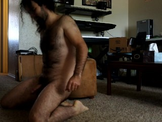 Multiple hands-free anal orgasms | guy fucks himself in the ass till he cum
