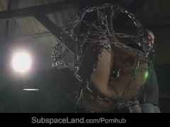 Teenie slave lashed and brutal fucked in hardcore sub punishment