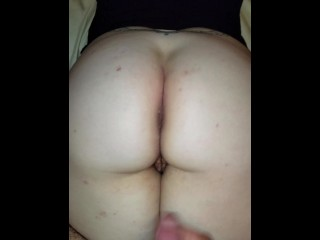 Big Cumshot on wife's ass and pussy