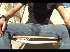 Lazy afternoon of jeans wetting