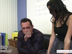 Naughty student Josie Jagger blows and fucks her teacher – Naughty America