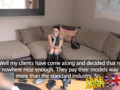 FakeAgentUK Agent gives petite web cam student a spunk surprise in casting