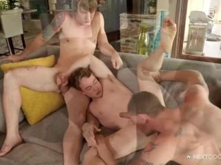 NextDoorBuddies Dirty Step-Brother Joins In Threesome Fun