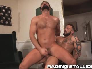 RagingStallion Latino Big Dicks Cum After Intense Fucking