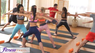 FitnessRooms Groups yoga session ends with a sweaty creampie yoga-porn 3some babes creampies teen-yoga-pants yoga-threesome bisexual yoga oal-sex fitnessrooms sex-in-yoga