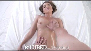 LUBED - Oiled up massage and wet pussy fuck with Dillion Harper
