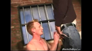 Preview 4 of White guy gets fucked in the prison by blacks