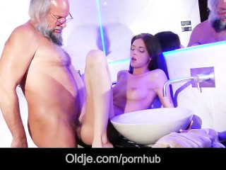 Young step daughter blowjob fuck therapy for dad ugly old friend