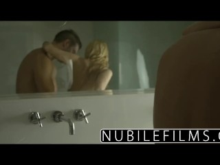 NubileFilms - Hardcore cock ride for petite blonde