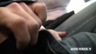 Preview 1 of Public Blowjob with Cumshot at Burger Store