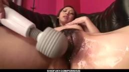 Perky tits Karen endures rough stimulation up her cunt