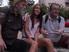 Old Goes Young – Sofia Like fuck with two old guys