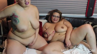 Latina BBW Sinful Celeste Asian BBW Miss LingLing Lesbo Fun  plumperpass big boobs big tits bbw chubby