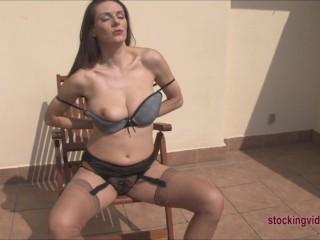 Milf big titty stocking hooker