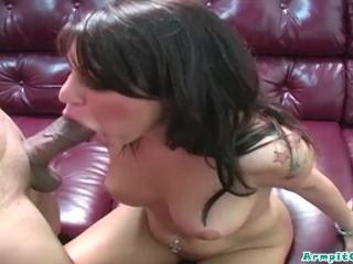 dirty little whore britney stevens sucks on some black shaft