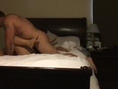 Muscle stud fucks wife til she cums!!!