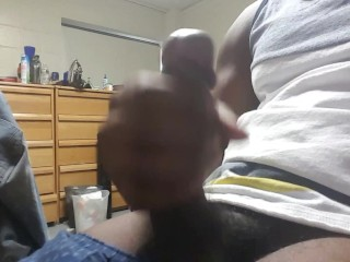 Student Jerks Off and Blows His Load