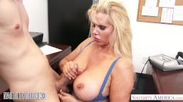 Big tits blonde Karen Fisher b