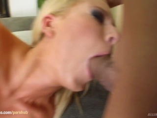 Denise in hardcore creampie scene from All Internal