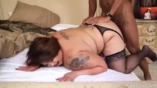Busty Asian BBW Miss LingLing Takes on Some Big Black Cock plumperpass chubby