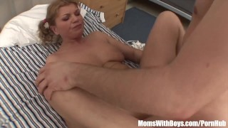 Young Soldier Rewarded With A Milf Blonde Whore