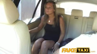 FakeTaxi Cute customer with natural tits  big-cock babe cock-sucking creampie outside oral point-of-view blowjob hot faketaxi spycam car czech shaved prague camera