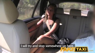 FakeTaxi Cute customer with natural tits  big-cock babe cock-sucking creampie outside oral point-of-view blowjob hot camera faketaxi spycam car czech shaved prague