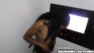 Petite Ebony Beauty Nice Ass Glory Hole Blowjobs  ebony blowjob amateur gloryhole small tits young cock sucking reality petite gloryholegirlz teenager nice ass glory hole natural tits