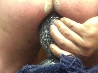 Anal playing with my huge tilapia plug