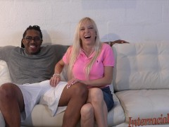Amateur Florida housewife takes a massive 12 inch black cock!