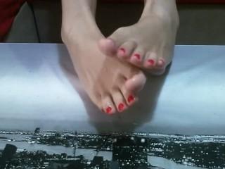corrida en mi deliciosos pies