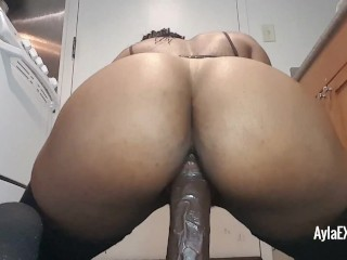 Riding My Thick Black Dildo