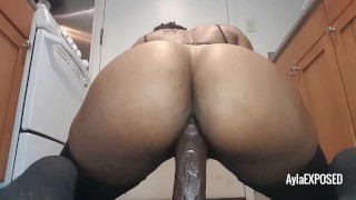 Preview 6 of Riding My Thick Black Dildo