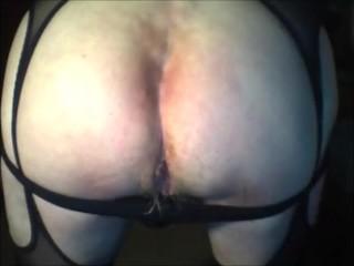 Short dildo with iron balls