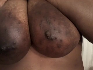 Beautiful Big Black Areolas