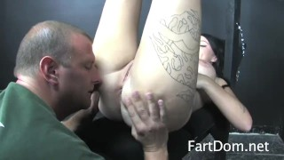 Femdom Brittany Lynn Takes Control With Bondage Fart Licker  ass worship rimjob bdsm humiliation femdom female-domination domination kink rimming farting buttholes big butt ass licking ass eating fartdom assholes