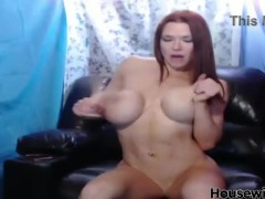redhead pornstar Kylee Nash with big fake tits