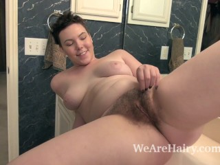 Dmitri Vosche takes off robe and combs her pussy