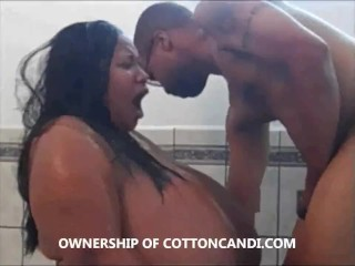Ebony SSBBW Cotton Candi Wears Toilet Seat N Sucks Dick