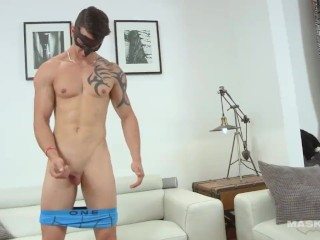 Maskurbate Jock Jerks Off his Big Cock